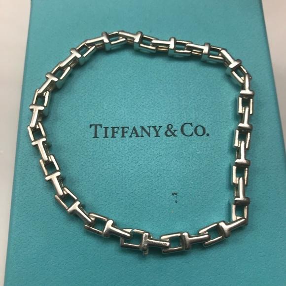 bf233f4984f00 Tiffany & Co. Jewelry   Tiffany Co T Silver Narrow Chain Bracelet ...